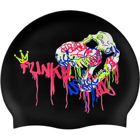 Funky Trunks Silicone Swimming Cap Men, negro/Multicolor